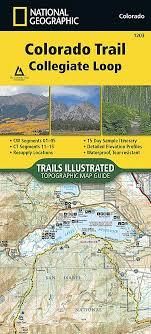 Colorado Mileage Chart Colorado Trail Collegiate Loop National Geographic
