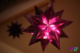 Großer Bascettaorigami Stern Mit Beleuchtung Feste