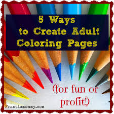 5 Ways To Create Adult Coloring Pages For Fun Or Profit