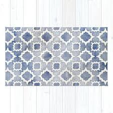 light grey and white striped rug worn faded navy denim pattern in blue by rugs