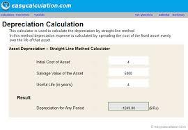 Straight Line Depreciation Equation Calculate Depreciation Straight Line Under Fontanacountryinn Com