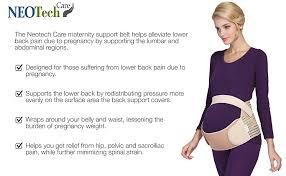 Pregnancy Stomach Size Chart Neotech Care Maternity Belt Pregnancy Support Waist Back Abdomen Band Belly Brace White Size M