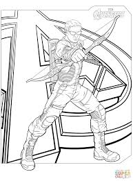 Small Picture Avengers Hawkeye coloring page Free Printable Coloring Pages
