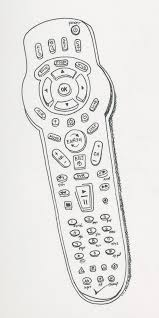remote control drawing. \u201cearth remote,\u201d pigment liner, 3×9\u2033 remote control drawing c