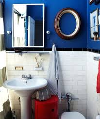 brown and blue bathroom accessories. Red White And Blue Bathroom Accessories Slanted Wood Paneled Ceiling Transparent Thick Curtain Brown Marble Floor Area Sitting .