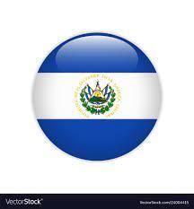 El salvador flag on button Royalty Free Vector Image