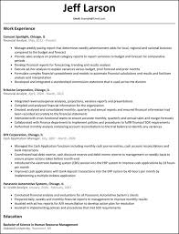 Sample Resume Of Business Analyst Job Financial Analyst Data