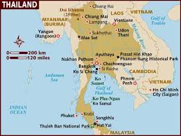 Map Map Thailand Thailand Map Of Of Of