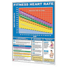 Heart Rate Zone Chart Poster Heart Rate Chart
