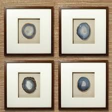 ebony framed wall art set of 4