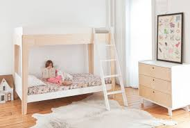 youth bedroom sets girls: molly meg e   oeuf perch bunk bed birch bedroom