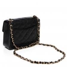 CHANEL Caviar Quilted Mini Square Flap Bag Black 89677 & CHANEL Caviar Quilted Mini Square Flap Bag Black. Pinch/Zoom Adamdwight.com