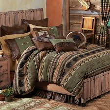 rustic bedding timber woods moose bear bedding collection black forest decor