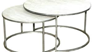 nesting coffee table silver metal round nesting coffee tables top awesome table for round nesting coffee