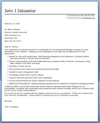 Creative Cover Letter Samples Template Simple Cover Letter Samples For Social Media Positions Social Media Manager
