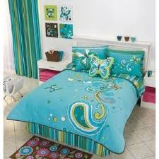 Teal Bedrooms Decorating Amazing Blue Wooden Bed And Headboard With White Furnitures