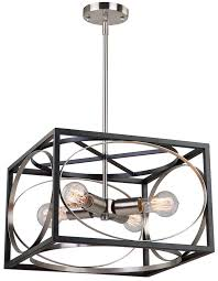 artcraft cl15094 corona modern black polished nickel pendant light art cl15094