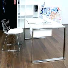 white desk with glass top decoration office makeup furniture