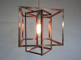 lighting attractive cage copper pendant design with various shapes for modern dining room light fixtures lightning