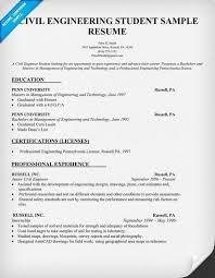 Civil Engineering College Student Resume Examples Gentileforda Com
