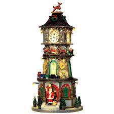 Details Zu Lemax Weihnachtsdorf Led Turmuhr Christmas Clock Tower Spieluhr Musik