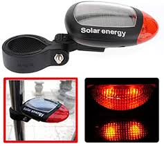 <b>Solar Power Bike Bicycle LED Cycling</b> Tail Rear Red <b>Light</b> Lamp ...