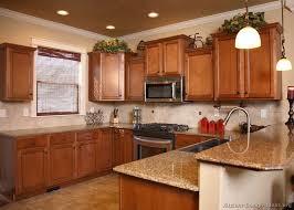62 traditional medium wood golden kitchen