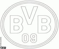 Kleurplaten Vlaggen En Emblemen Van De Duitse Voetbalcompetitie