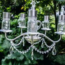 outdoor solar chandelier vintage garden solar chandelier with mini mason jar bulb how to make outdoor outdoor solar chandelier