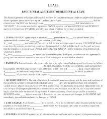 Basic Rental Agreement Template House Rental Agreement Template