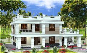 Square House Roof Design Flat Roof House In 2567 Square Feet In 2020 Flat Roof