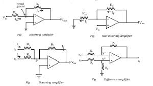 basic op amp circuits inverting non inverting summing difference amplifier