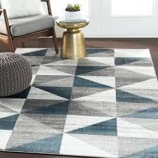 10x10 outdoor rug blue amp gray mid century geometric area rug