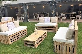 pallett furniture. Pallet Furniture Hire - Three Benches In A Horse Shoe Formation Pallett