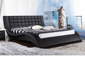 2014 canton fair leather upholstered bed bed design 2014 china modern furniture latest