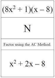 Ac Method Factoring Using The Ac Method Problem Trail By Tag Team Algebra