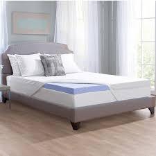 mattress topper queen. novaform serafina collection 3\u201d gel- memory foam mattress topper with tricomfort technology queen d