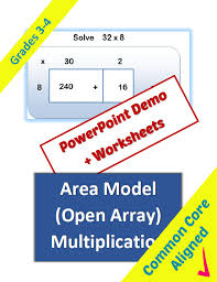 Area Model Multiplication Lesson   Classroom Caboodle