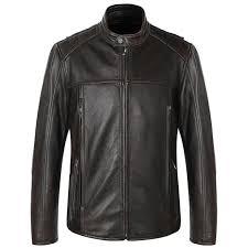 2019 <b>Vintage</b> Brown Men American Motorcycle Leather Jacket <b>Plus</b> ...