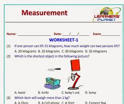 Grade Measurement Worksheets and Printables for grade 1 students ...