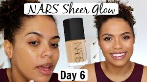 Nars Sheer Glow Color Chart Nars Sheer Glow Foundation Review Wear Test 12 Days Of Foundation Day 6