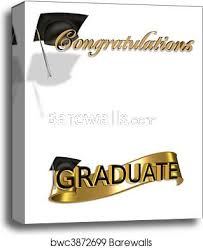 Congratulations For Graduation Graduation Congratulations Clip Art Canvas Print