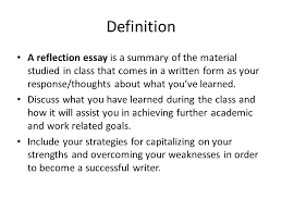 writing reflection paper definition a reflection essay is a