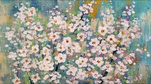 cotton swab flower blossoms live acrylic painting tutorial