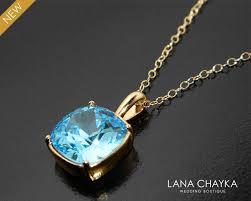 aquamarine blue gold necklace swarovski aquamarine square necklace light blue crystal necklace blue sparkly bridal bridesmaids necklaces 26 00 usd