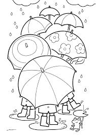 無料ダウンロードぬりえ 27雨の日は花色傘がたくさん咲く季節