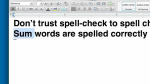 How Do You Spell Resume Spill Check Your Resume Or Why Spell Check Isn't Enough YouTube 47