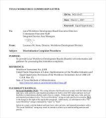 Complaint Format Letter Impressive Discrimination Complaint Letters 48 Free Word PDF Documents