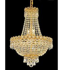palace empire 8 light crystal chandelier ceiling light gold 16x20