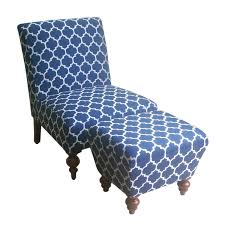 Blue And Brown Accent Chair Furniture Fascinating Accent Chair With Ottoman Perfecting Your